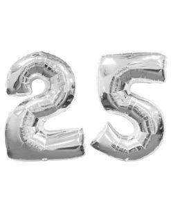 Balon folie cifra 25