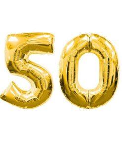 Balon folie cifra 50