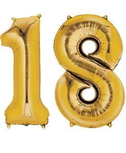 Baloane folie cifra 18