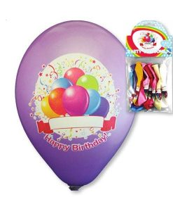 Baloane inscriptionate Happy Birthday.