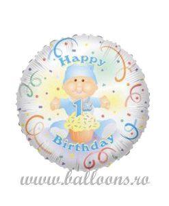 Balon folie 1st Birthday Baby Boy