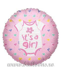 Balon folie Its a Baby Girl Clothes