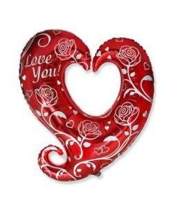 Balon folie inima Love You
