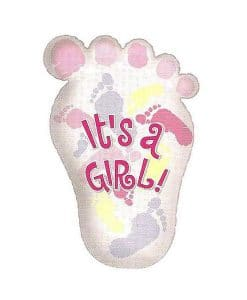 Balon folie Foot Its a Girl Shape
