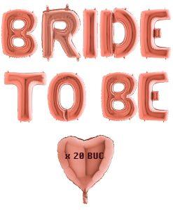 Set baloane BRIDE TO BE