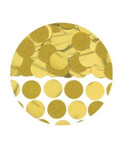 Confetti rotunde aurii